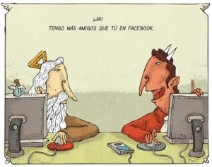 Dios y Diablo en Facebook